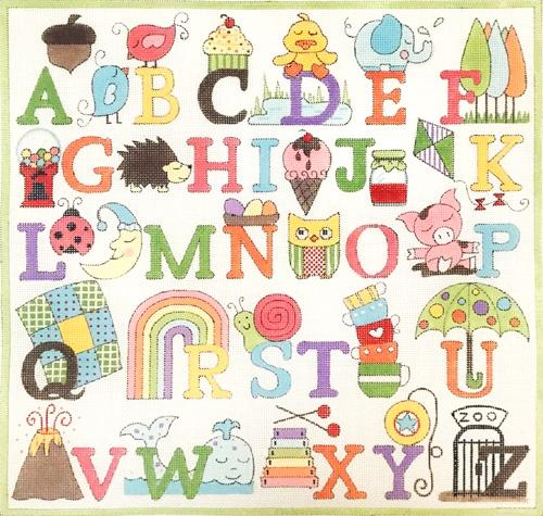 Upper Case Alphabet Painted Canvas Alice Peterson