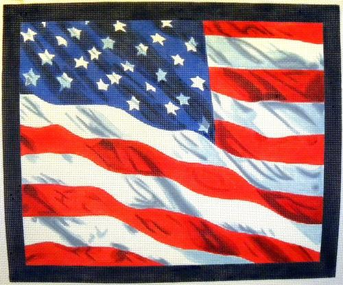 U.S. Flag Painted Canvas Kirk & Bradley