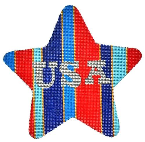 USA Star Painted Canvas Raymond Crawford Designs
