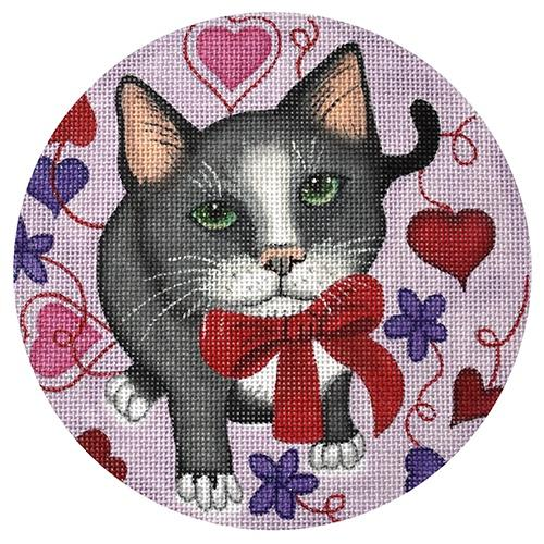 Valentine Kitty Painted Canvas Nenah Stone Designs