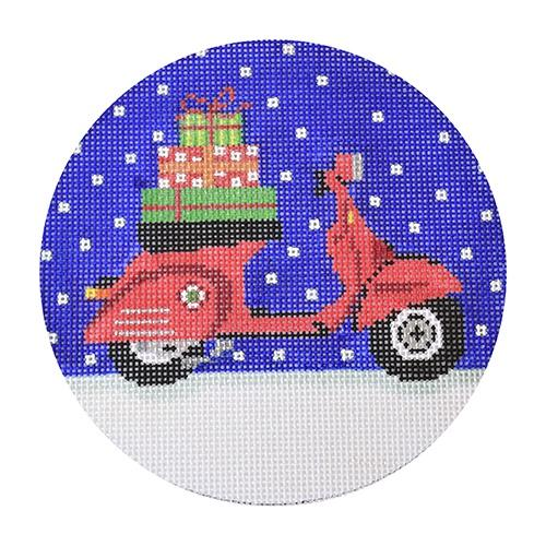 Vespa Holiday Painted Canvas The Meredith Collection