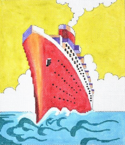 Vintage Ship Painted Canvas Colors of Praise