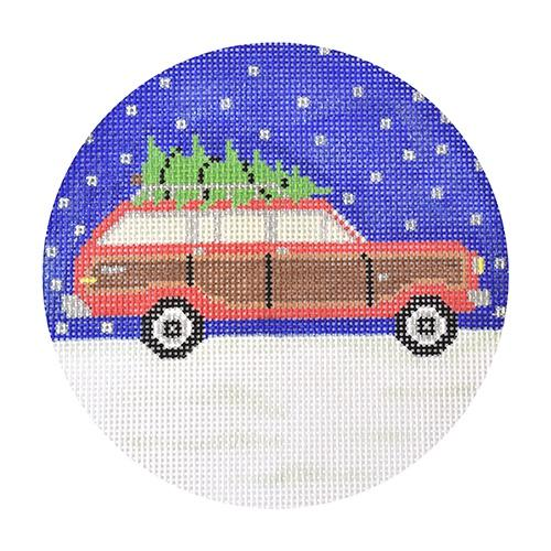 Wagoneer Christmas Painted Canvas The Meredith Collection