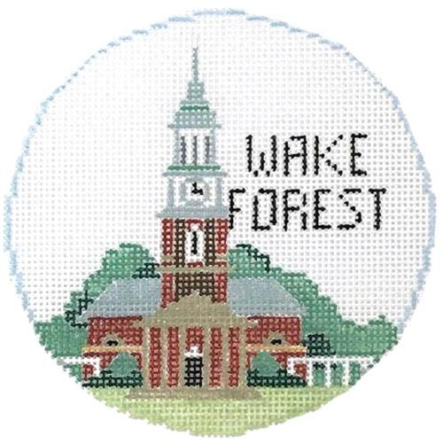 Wake Forest Ornament Painted Canvas Kathy Schenkel Designs