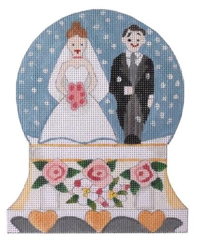 Wedding Snowglobe Painted Canvas Raymond Crawford Designs