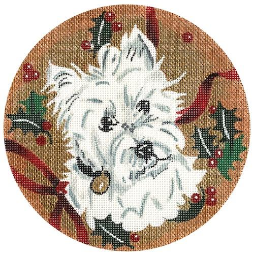 Westie Ornament Painted Canvas The Meredith Collection