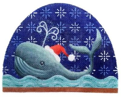 Whale Snowdome Painted Canvas Kirk & Bradley