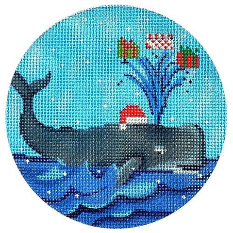 Whale with Presents Painted Canvas Scott Church Creative