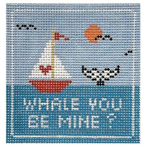 Whale you Be Mine Painted Canvas Thorn Alexander