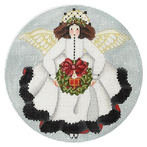 White Angel Ornament Painted Canvas Melissa Shirley Designs