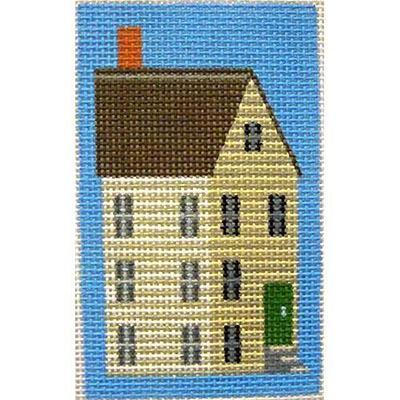 White Shaker House Key Fob Painted Canvas Kirk & Bradley