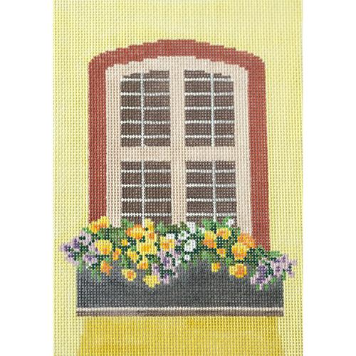 Window - Sunny Flowers Painted Canvas The Meredith Collection