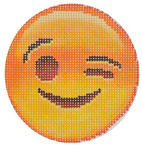 Winking Emoji Painted Canvas The Point of It All Designs