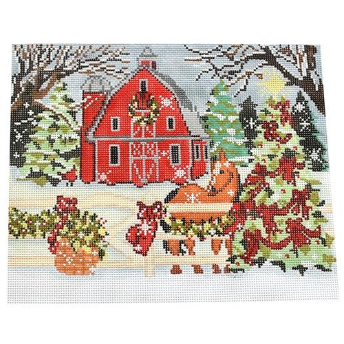 Winter Barn Painted Canvas Birds of a Feather