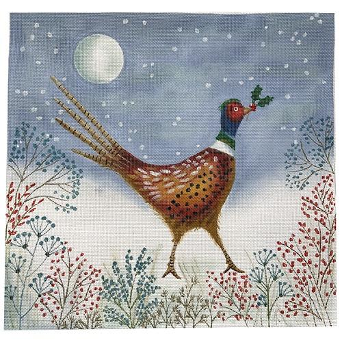 Winter Pheasant Painted Canvas Love You More