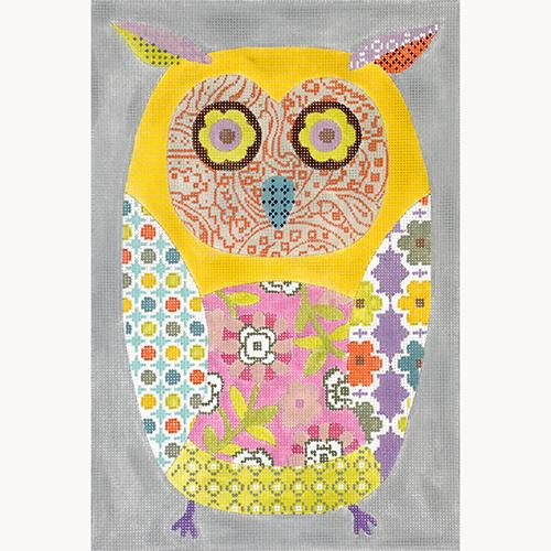 Wise Owl on 10 Painted Canvas Kirk & Bradley