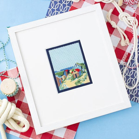 Wishtown Beach Houses Kit & Online Class Online Classes The Plum Stitchery