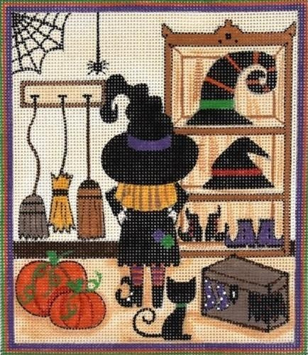 Witch's Closet Painted Canvas Alice Peterson Company