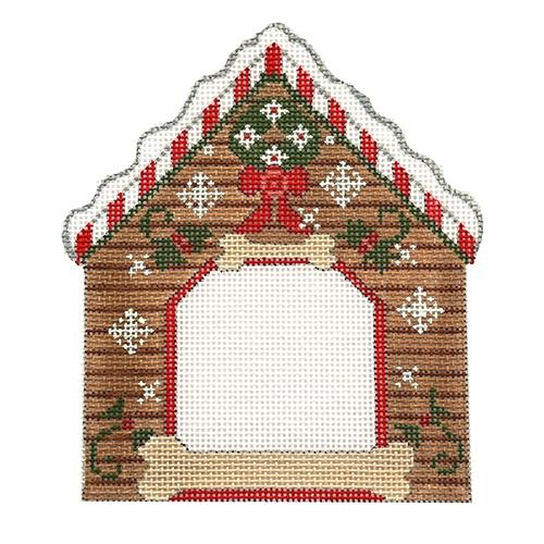 Wreath Dog House Frame Painted Canvas Danji Designs