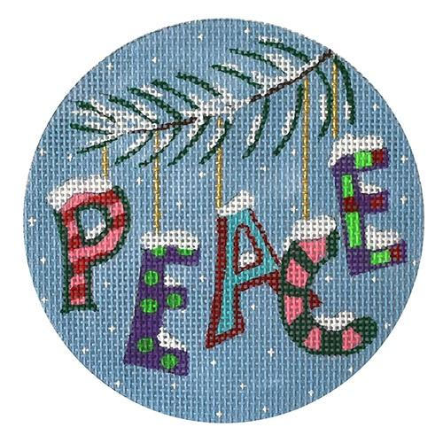 Xmas Peace Painted Canvas PLD Designs