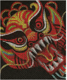 Year of the Dragon Painted Canvas Lee's Needle Art Inc.