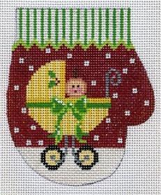 Yellow Baby Carriage Mitten Painted Canvas The Meredith Collection