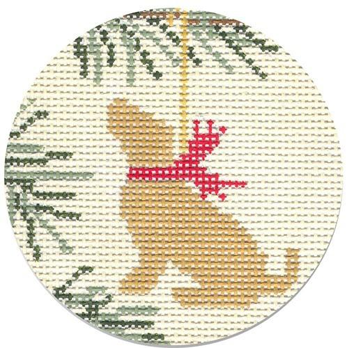 Yellow Lab Painted Canvas CBK Needlepoint Collections