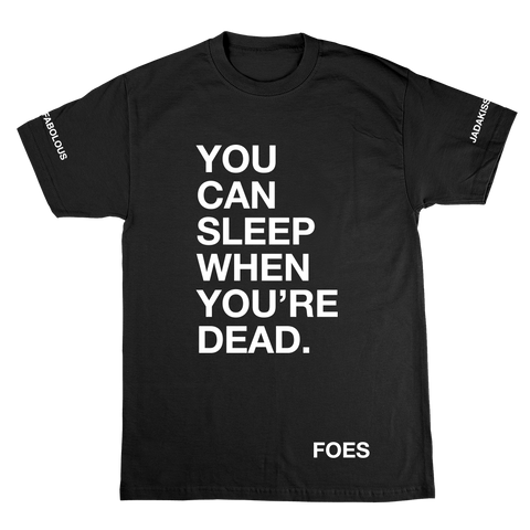 Sleep When Ur Dead T-Shirt Black