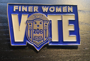 Finer Women Vote Lapel Pin
