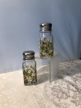 Hand Painted Salt and Pepper Shakers with Daisy and Black-eyed Susie Design for Birthday, Housewarming, and Hostess Gift