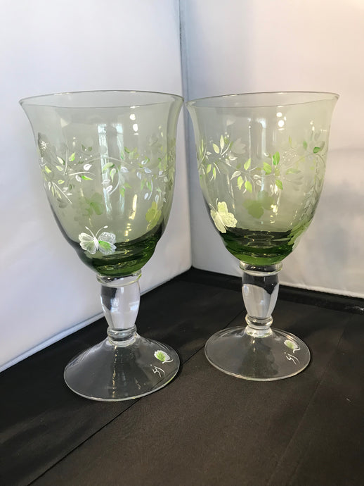 Mint Green Lenox Water Goblets