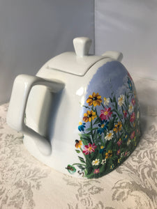 Wildflower Garden Hand Painted Teapot - Ivy Cottage Art Gifts