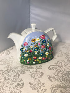 Wildflower Garden Hand Painted Teapot