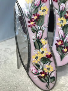 Hand Painted Stained Glass Ballet Slippers for Dancer Gift Unique Art - Ivy Cottage Art Gifts