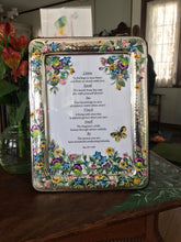 Hand Painted Original Poetry Silver Plated Framed Artwork for Gift - Ivy Cottage Art Gifts