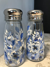 Hand Painted Blue and White Floral Salt and Pepper Shakers for Housewarming Gift