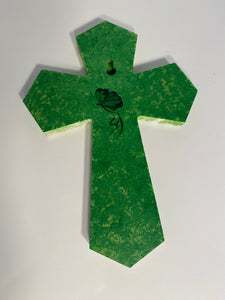 Hand Painted Holiday Cross. Christmas Cross. Religious Cross for Holidays. Christmas Spiritual Cross. Crucifix for Holidays. Holly Cross