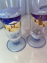 Hand Painted Beach Champagne Glasses. Beach Decor Glasses. Beach Home Champagne Glasses. Unique Champagne Glass Gift.