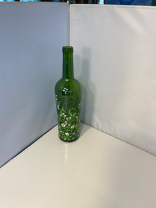 Hand Painted Irish Olive Oil Bottle. Painted Oil Bottle with Shamrocks. Irish Oil Bottle for Dining. Green Oil Bottle for St. Patrick's Day