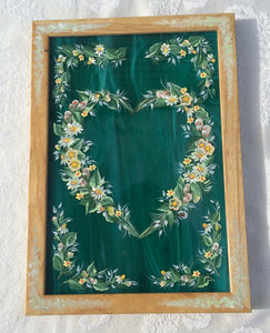 Hand Painted Stained Glass Heart - Ivy Cottage Art Gifts
