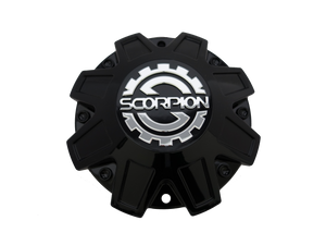 SC17 Black Milled Scorpion Center Cap