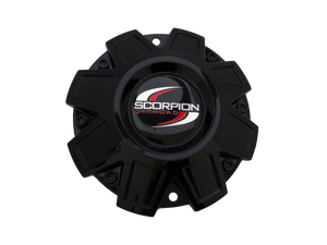 SC10 Discontinued Logo Black Machined Scorpion Center Cap