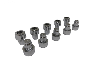 10 Pack of Chrome Socket Head Rivet Inserts