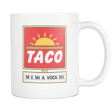 White 11oz Freshavocado Mug