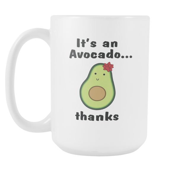 White 15oz Avocado Mug