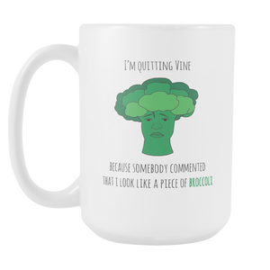 White 15oz Broccoli Mug