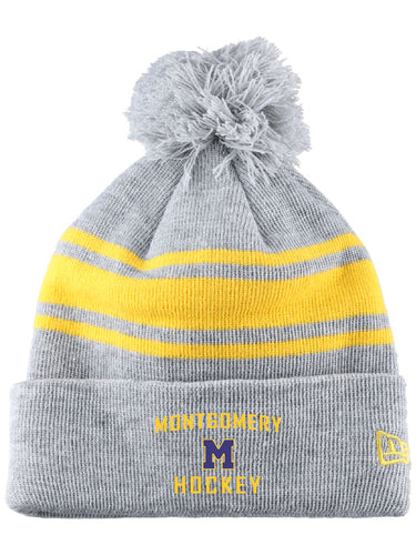 BAUER / New Era® Team Striped Pom Pom Hat (Gold Stripe)