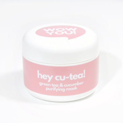 WOW YOU Hey Cu-tea Green Tea & Cucumber Purifying Mud Natural Face Mask