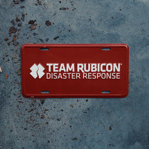 Red Team Rubicon License Plate
