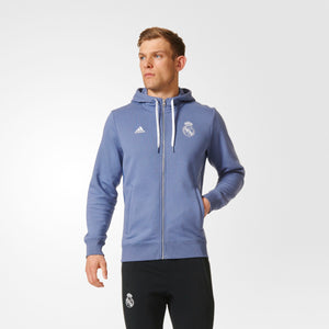 Real Madrid 3 Stripe Zip Hoody